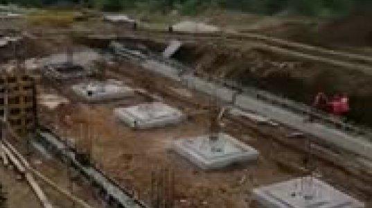 როგორ მიმდინარეობს ზემო მაჩხაანში ახალი სკოლის მშენებლობა (ვიდეო)