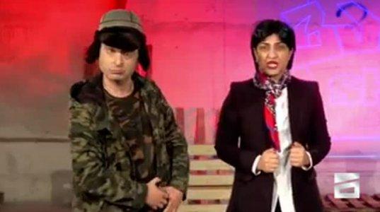 """სკანდალური დუეტი """"ემზარი და ირმა"""" - """"ვანოს შოუში"""" (ვიდეო)"""