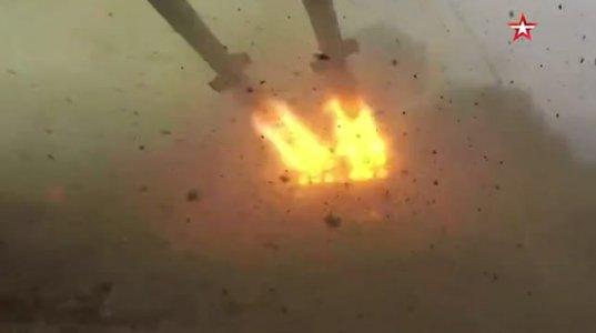 """რუსეთმა წვრთვნებში გამოიყენა ზალპური ცეცხლის რეაქტიული სისტემა """"ТОС-1А Солнцепёк""""-ი"""