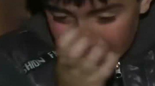 პეტრე ცაავას ბავშვები ტირილით ემშვიდობებიან - ემოციური კადრები