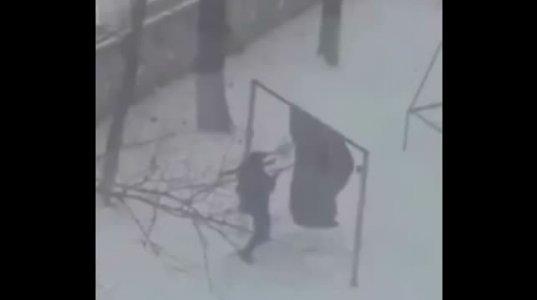 ზამთარში ხალიჩის გაწმენდის მეთოდი რუსულად. უყურეთ და ისიამოვნეთ