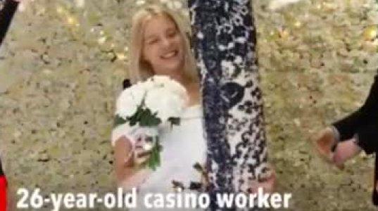 უცნაური კადრები: მარტოხელა დედამ ხალიჩაზე იქორწინა