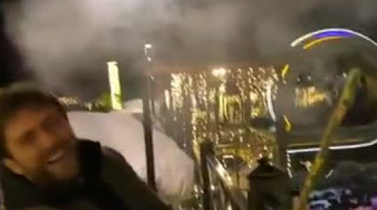 ნოე სულაბერიძე გუგა კუზანოვს მაშხალის სროლას ასწავლის (ვიდეო)