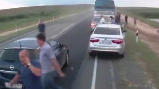 1 წუთში ორი ავარია