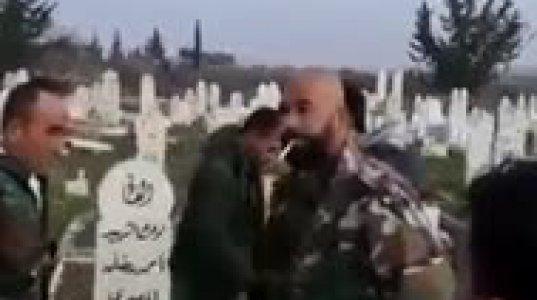 სირიის სამთავრობო ძალების ვანდალიზმი იდლიბის პროვინციაში ქალაქ ხან ალ-სალიბში