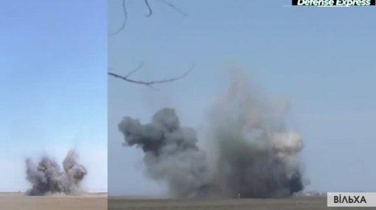 """უკრაინული ზალპური ცეცხლის რეაქტიულმა სისტემა """"Ольха""""-ს რაკეტებმა სამიზნე წარმატებით გაანადგურა"""