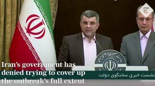 კორონავირუსით დაინფიცირებული ირანის ჯანდაცვის მინისტრის მოადგილე ოფლად იღვრება და პირბადეც კი არ უკეთია
