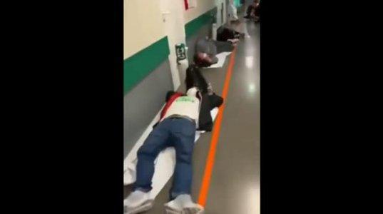 კატასტროფული სიტუაციაა ესპენეთში, პაციენტები საწოლების დეფიციტის გამო დერეფნებში წვანან