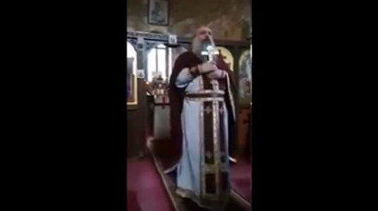დეკანოზ ბასილ ახვლედიანის აგრესიული ქადაგება