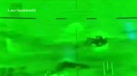 ტანკსაწინააღმდეგო მართვად რაკეტას ტანკის აფეთქებაში ფრინველმა შეუშალა ხელი