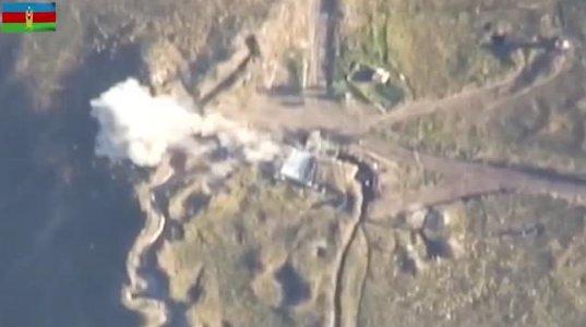 აზერბაიჯანული მხარე სომხური ჯარის ერთ-ერთი  პუნქტის განადგურების ვიდეოს ავრცელებს