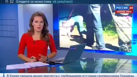 რუსეთში ქალი ბავშვს ძაღლივით ასეირნებს