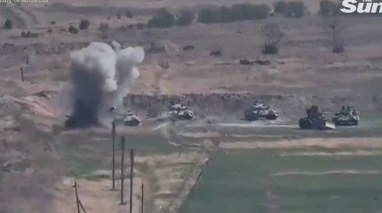 სომხეთის- აზერბაიჯანის ომის ამსახველი კადრები