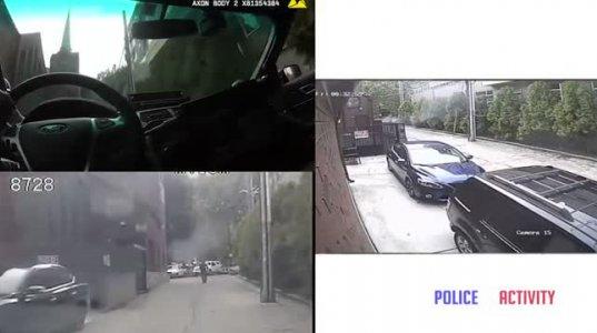 მამაკაცი ჩირაღდნით ხელში ცდილობდა პოლიციის მანქანის დაწვას(სიეტლი,აშშ)