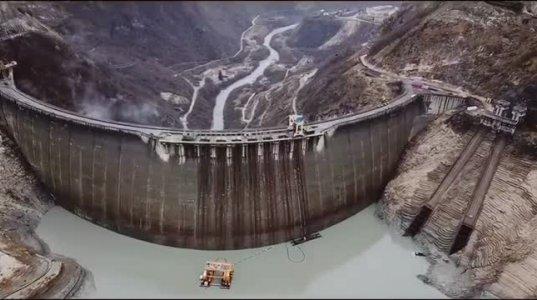 ენგურის წყალსაცავის დაცლის პროცესი
