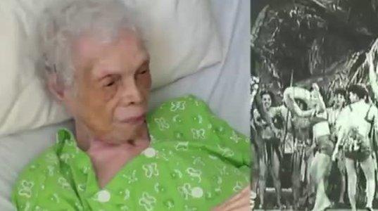 102 წლის ყოფილი მოცეკვავე ქალი პირველად უყურებს თავისი ცეკვის ვიდეოებს