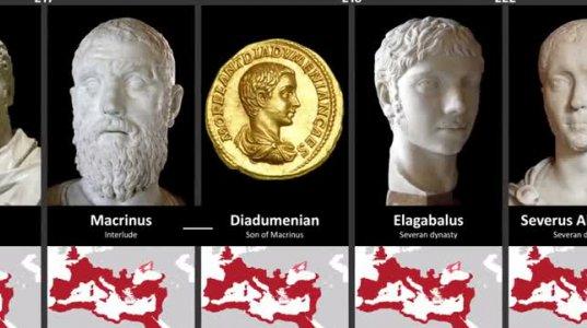 რომის და ბიზანტიის იმპერიები თითოეული იმპერატორის პერიოდში