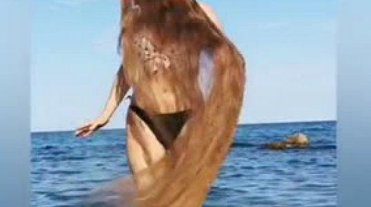 """უკრაინელი """"რაპუნცელი""""ალა პერკოვა,რომელსაც 167 სმ. თმები აქვს"""